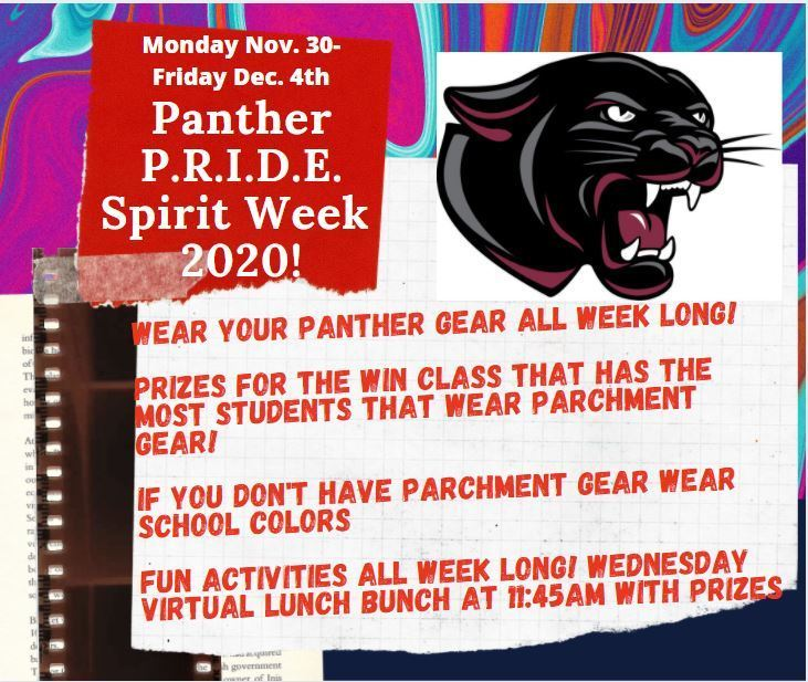 MS Spirit Week Fall 20-21