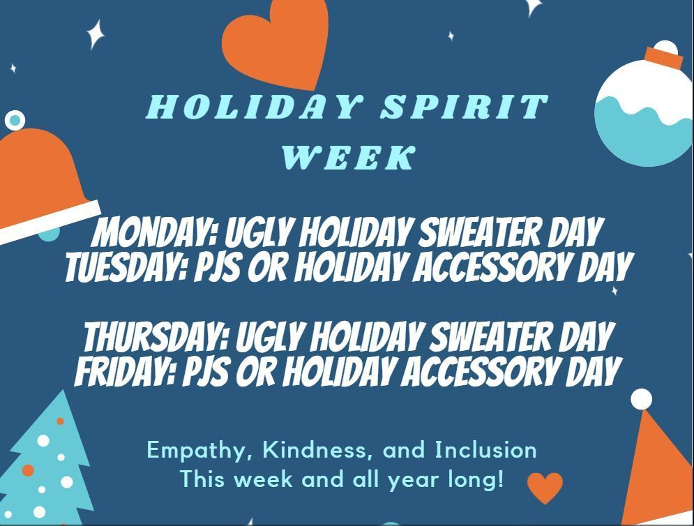 Holiday Spirit Days