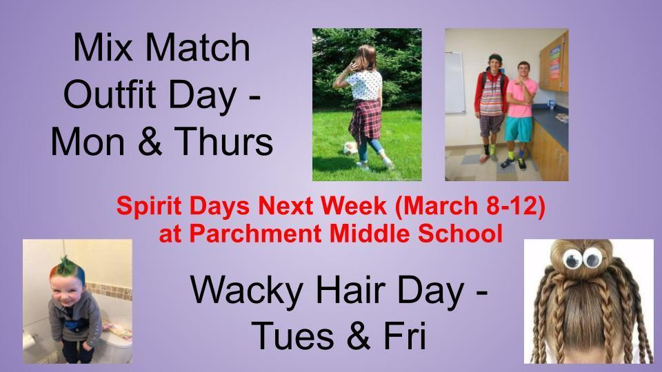 March Spirit Days